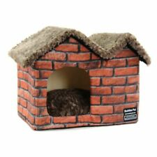 Pet Dog Cat House Beds Kennel Raised Indoor House Tent Mat Cushion Home Zha19