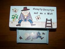 PAINTED WOODEN STEP STOOL HUMPTY DUMPTY COLLECTION