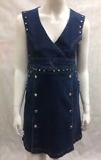 Karen Millen Denim Blue Midi Dress £170 UK 10/EU 38/US 6 (A 93 SM)