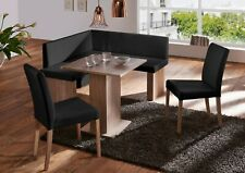 New ANNA MINI Oak Corner Eckbank Kitchen Dining Seating Bench Table + 2 Chairs