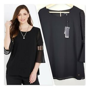 [ MAGGIE T ] Womens Embroidered Blouse Top NEW + TAGS | Size AU 16 or US 12