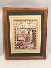 Vtg Mary Engelbreit Solid Wood Frame Double Matted That's What Friends Are For