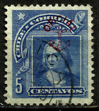 CHILE, 5 CENTS 1907, OFFICIAL STAMP, ANCHOR, USED