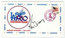 Baseball Ken Griffey Autographed 1980 All-Star Game Dodger Stadium