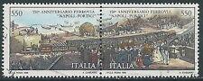 1989 ITALIA USATO DITTICO FERROVIA NAPOLI PORTICI - RK-8
