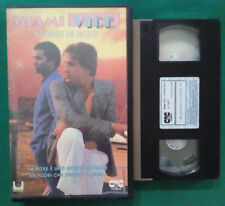 VHS FILM Ita Azione MIAMI VICE Storie Di Boxe don johnson ex nolo no dvd(VH91)