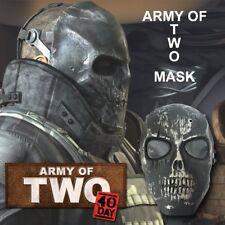 Updated Black Army Skull Skeleton Airsoft Paintball BB Gun Game full Face Mask