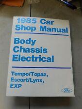 Nos 1985 Ford Escort Exp Tempo Mercury Topaz Lynx Body Elect Shop Service Manual
