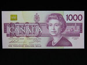 1988 $1000 Dollar Bank of Canada Banknote EKA0598345 Thiessen Crow UNC* Grade