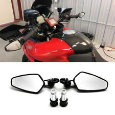 "Motorcycle Black 7/8"" Handle Bar End Side Mirrors For Ducati Multistrada Monster"