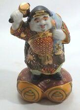 Japanese Kutani Porcelain Moriage Gold Figurine Daikoku