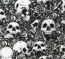 Wassertransferdruck Folie Skulls Rosen - 100cm breit