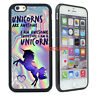 Cute Unicorn Silicone Bumper Phone Case Cover for iPhone X 8 7 6 6s Plus 5s 5 4