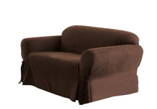 Surefit Soft Suede Loveseat Cover (Slipcover) Chocolate Brown No Package