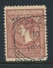CURACAO, 1½ GULDEN NR. 42 PRACHT EX.,VIERKANT CURACAO 10/12/08  ZE743