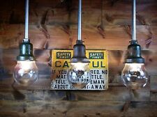 Vintage WESTINGHOUSE Explosion Proof Industrial Pendant Light Gas Station Barn