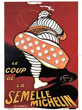 Pubblicità PNEUMATICI MICHELIN MAN BIBENDUM Francia poster art print bb2019a