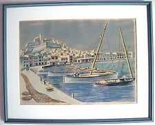 "MILDRED RACKLEY SIMON Serigraph ""Port of Ibiza"" Signed and numbered 92/150"