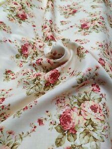 Tessuto floreale cm280x280 fiori colorato linen tappezzeria tende divani cuscini