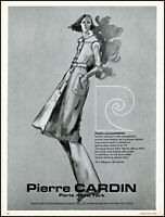 1976 Pierre Cardin women's clothing fashions model vintage art print Ad adl31