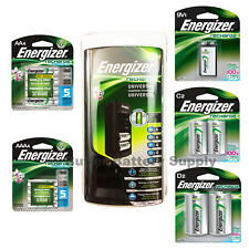 Energizer Universal NiMH Battery Charger (includes 4 AA, 4 AAA, 1 9V, 2 C, 2 D)