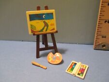 Playmobil accessories PAINTING + BRUSH + PALETTE + PAINT BOX + BROWN EASEL