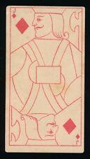 1888 N233 Kinney TRANPARENT PLAYING CARDS (53) -Jack (J) Diamonds -Girl Image