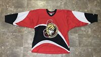 Vintage NHL Authentic CCM Ottawa Senators Hockey Jersey Size L