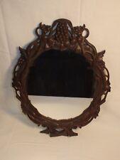 Ancien miroir forêt noire en bois sculpté vigne - Antique carved Oak