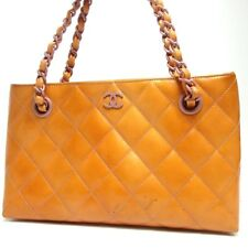 Authentic CHANEL Matrasse Chain Handbag Patent leather[Used]