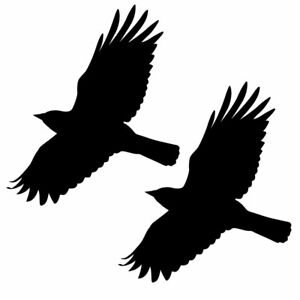 Qty 2 Bird Window Stickers, Anti Bird Strike Window Decal Pack B Any Colour
