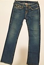 RARE Women's TRUE RELIGION JEANS BECKY BIG T GOLD DISCO CRYSTAL BUTTONS 27 x 31