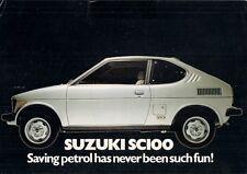 Suzuki SC100 GX Whizzkid 1979-80 UK Market Launch Leaflet Sales Brochure