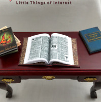 Open Book DICTIONARY Miniature Book Dollhouse 1:12 Scale Readable Illustrated