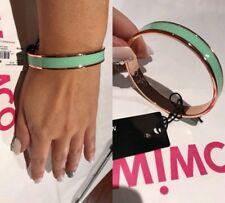 Mimco ⭐️ Narrow Enamel Spearmint Bangle Wrist Cuff Bracelet New + Dust Bag