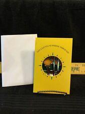 """Vintage John Deere - """"2 Deere In Woods� Sun Catcher-Nip-In Sunshine Through Card"""