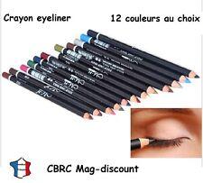 Crayon eyeliner contour des yeux 12 couleurs au choix / pochette cadeau