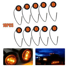 "10PCS Amber 3/4"" Round LED Clearance Side Marker Lights For Truck Trailer Lamps"
