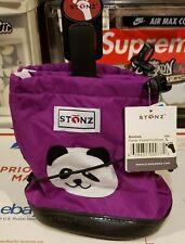 NEW Stonz PANDA Purple PLUS Foam Weather Resistant Toddler Booties Size: LARGE