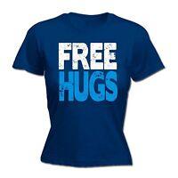 Free Hugs Ladies T-SHIRT Friend Kiss Cute Love Valentines Funny Gift birthday