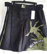 "Av Fightwear Mens Zombie Shorts 36"" Waist Trunks Black Green All Valley Uk"