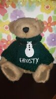 """Holiday Teddy Bear 9"""" Brown 17 Sweater Set Jointed Plush Interchangeable Stuffed"""