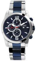 Akzent Herrenuhr Blau Analog Datum Chrono-Look Metall Armbanduhr D-2800060001