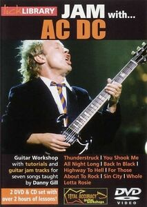 Lick Library Jam With Acdc Volume 1 Guitar Dvd & Cd 7 Classic Tracks Tutorial