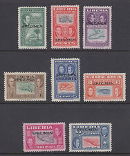 Liberia Sc 332/C69 MNH. 1952 Ashmun cplt, black SPECIMEN ovpts