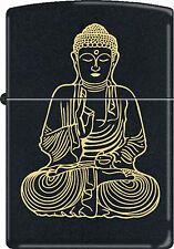 "Traditionnel Buddah Bouddha "" The Enlightened Un "" Noir Mate Briquet Zippo"