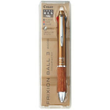 PILOT JAPAN frixion Ball-point pen Wood BN 0.5 mm Knock 3 colors Black Blue Red