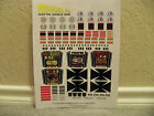 SPACE 1999 EAGLE ONE OLD VERSION STICKERS LASER MATTEL 1976