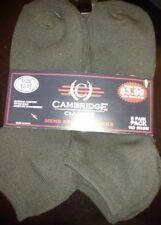 Brand New! Men'S (Size 10-13) Black Athletic Socks! [Six Pack/Pairs]