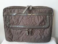 VTG STELLA McCartney LeSportsac quilted laptop bag taupe organizer pouch YKK ZIP